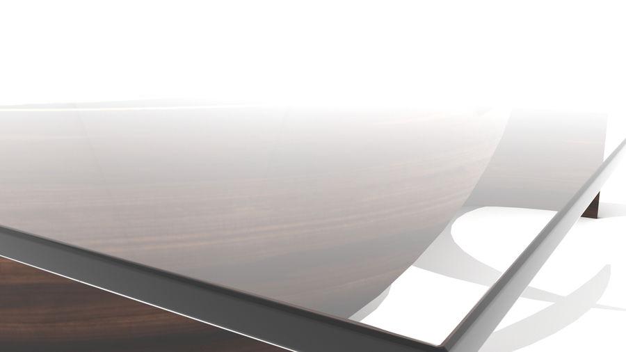 곡선 된 파도 나무와 유리 커피 테이블 royalty-free 3d model - Preview no. 8