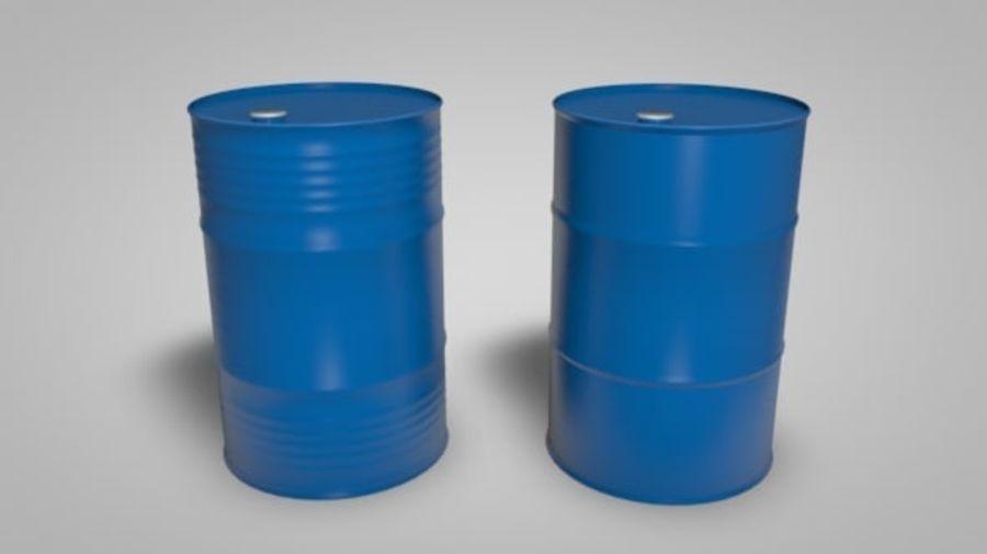 Нефтяные бочки (2 типа + 2 материала) royalty-free 3d model - Preview no. 5