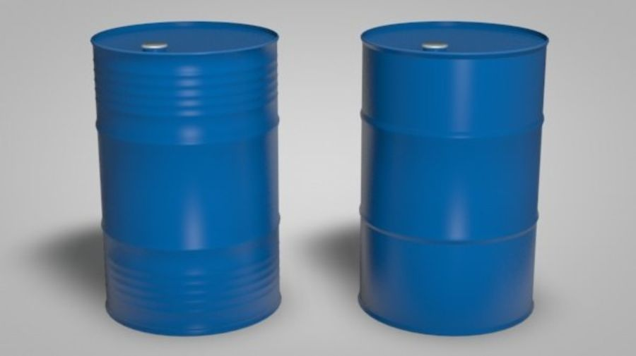 Нефтяные бочки (2 типа + 2 материала) royalty-free 3d model - Preview no. 3