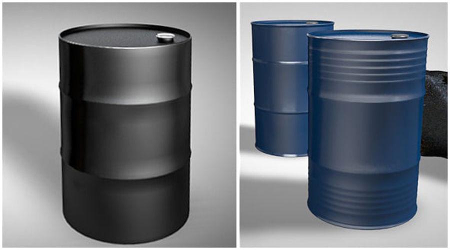 Нефтяные бочки (2 типа + 2 материала) royalty-free 3d model - Preview no. 4
