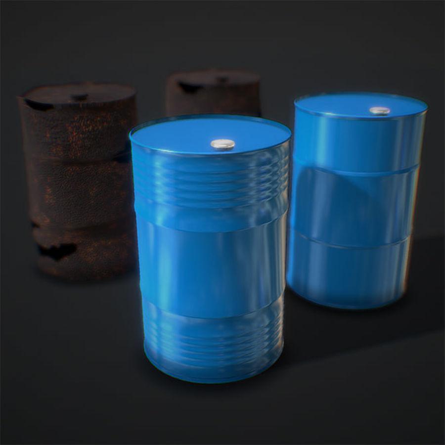 Нефтяные бочки (2 типа + 2 материала) royalty-free 3d model - Preview no. 1