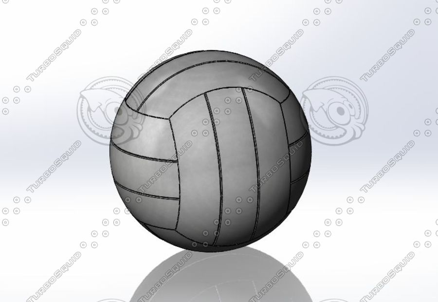 Volley ball- Part royalty-free 3d model - Preview no. 1