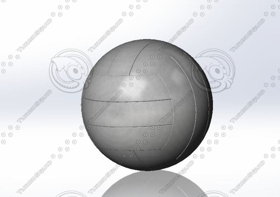 Volley ball- Part royalty-free 3d model - Preview no. 5