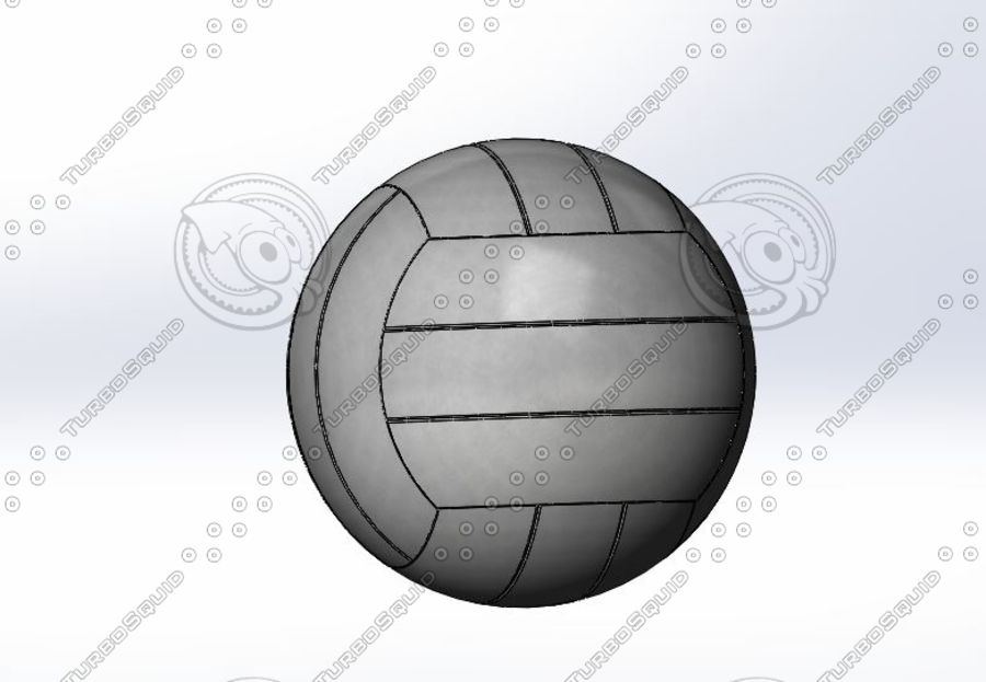 Volley ball- Part royalty-free 3d model - Preview no. 4