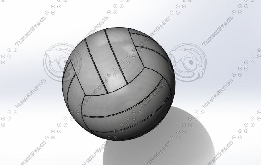 Volley ball- Part royalty-free 3d model - Preview no. 2