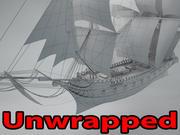 Clipper ship 3d model