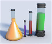Chemistry Lab Test Tubes 3d model