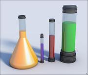 Пробирки химической лаборатории 3d model