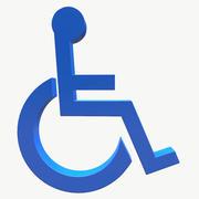 Logo fauteuil roulant 3d model