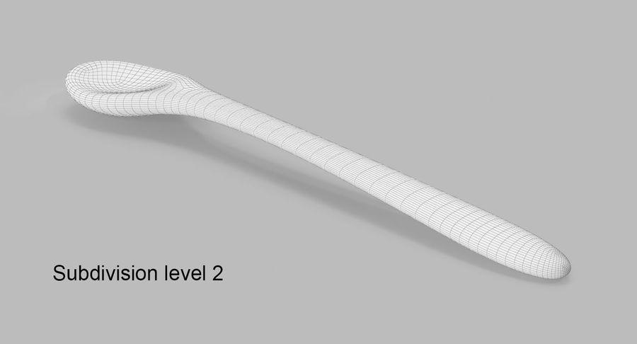 Colher de madeira royalty-free 3d model - Preview no. 10