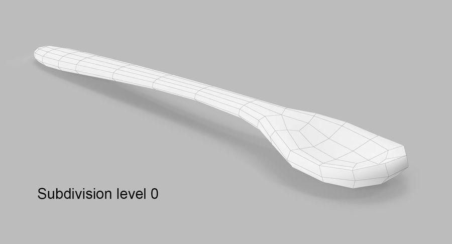 Colher de madeira royalty-free 3d model - Preview no. 9