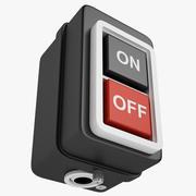 Self Locking Power Push Button 02 3d model