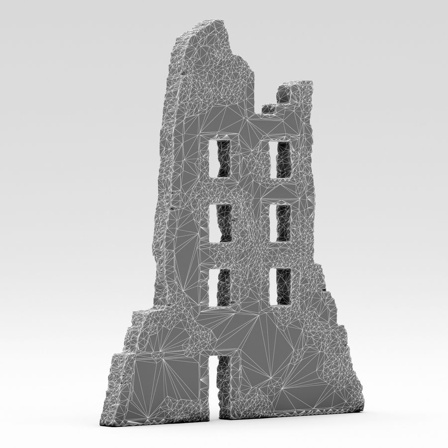Edificio de ruinas royalty-free modelo 3d - Preview no. 5