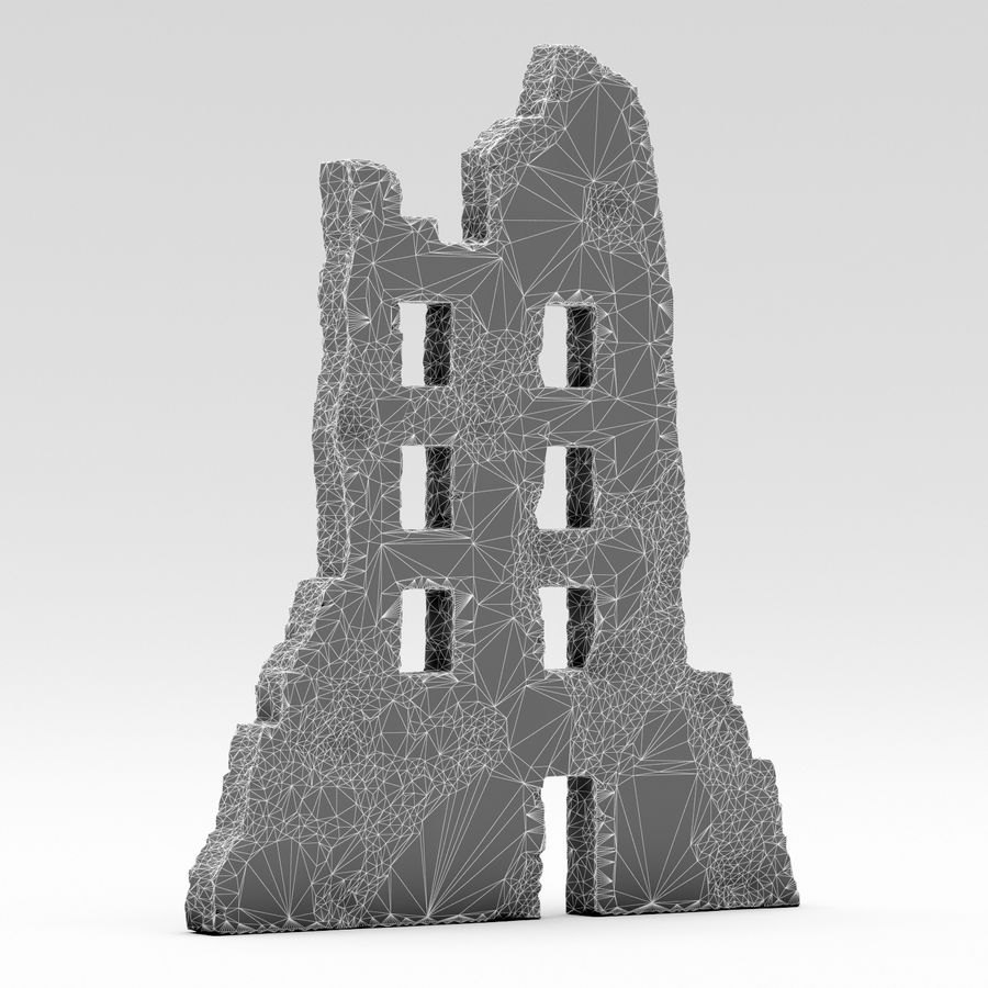Edificio de ruinas royalty-free modelo 3d - Preview no. 3