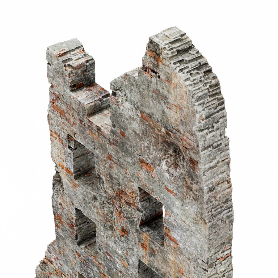 Edificio de ruinas royalty-free modelo 3d - Preview no. 10