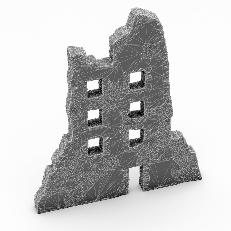 Edificio de ruinas royalty-free modelo 3d - Preview no. 9
