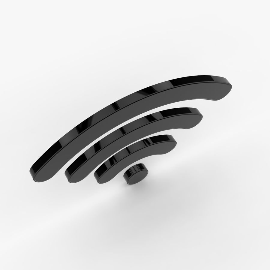Símbolo Wi-Fi royalty-free 3d model - Preview no. 3