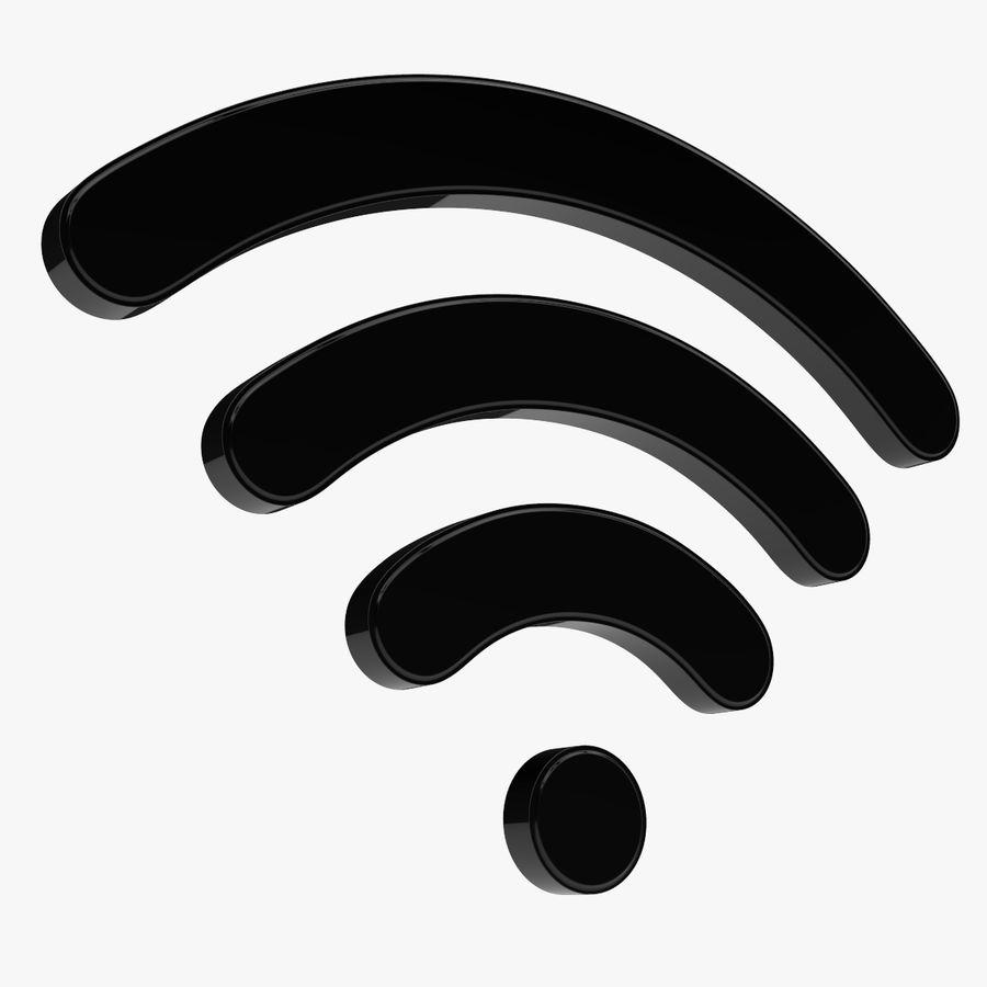 Símbolo Wi-Fi royalty-free 3d model - Preview no. 1