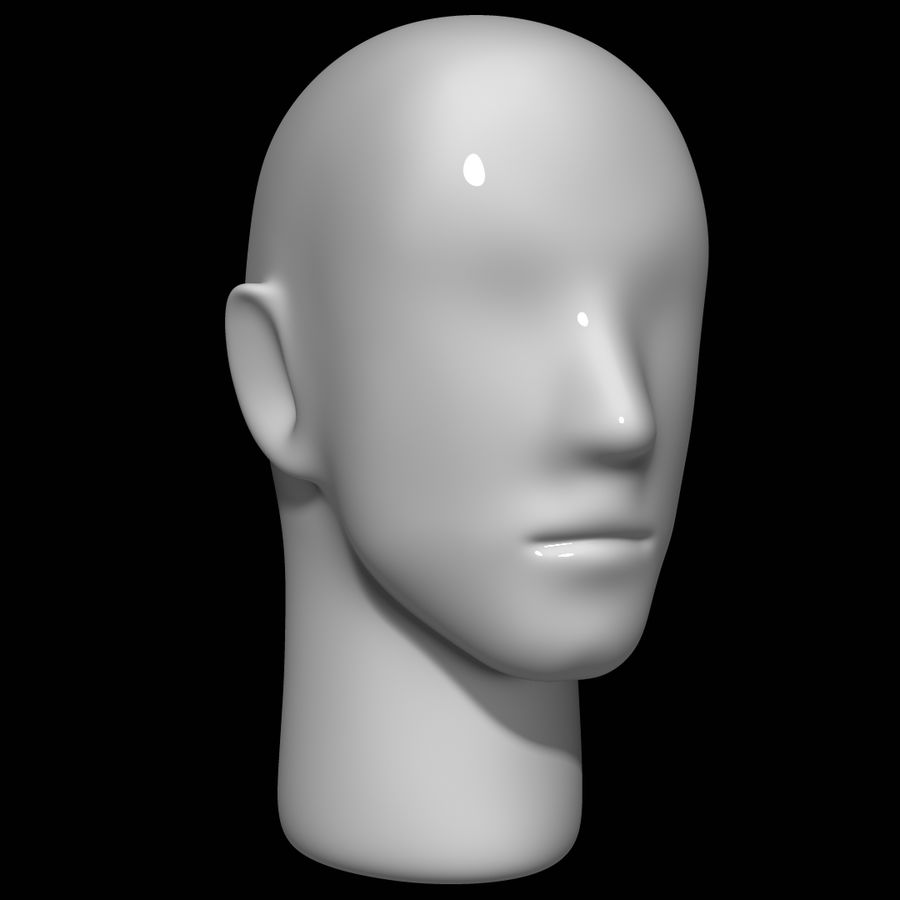 Mannequin head royalty-free 3d model - Preview no. 2