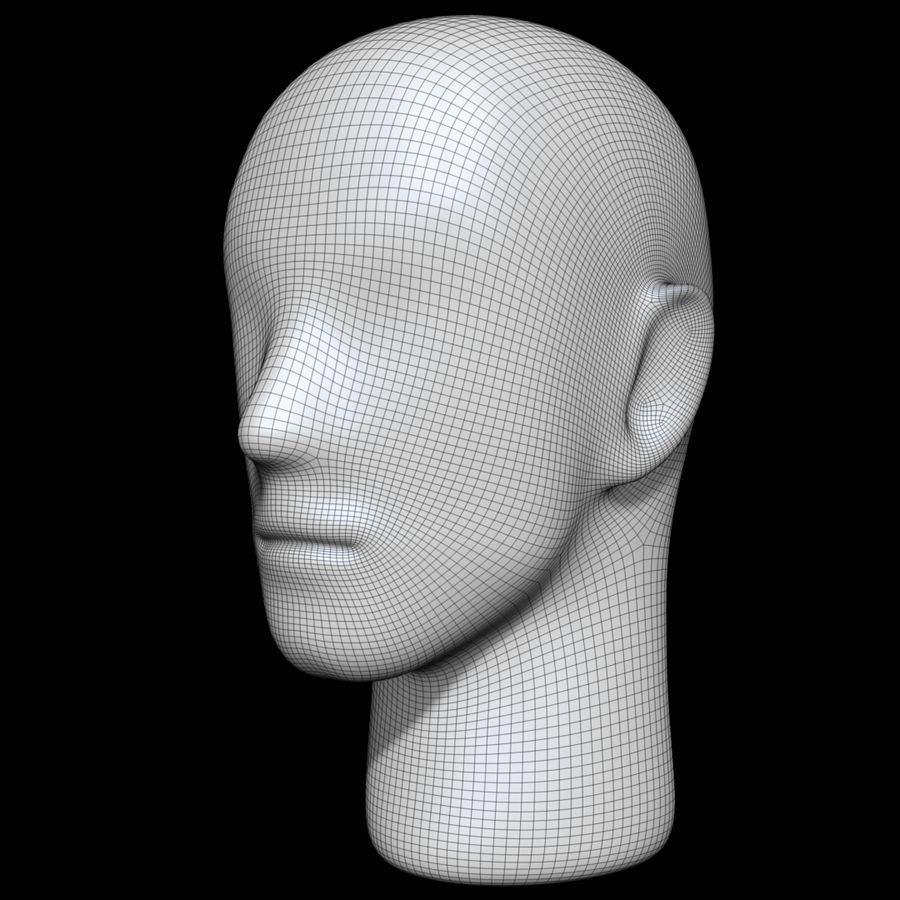 Mannequin head royalty-free 3d model - Preview no. 15