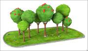 Jabłoń Cartoon 3d model