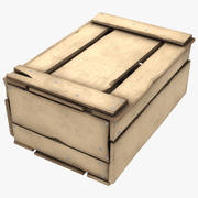 나무 상자 3d model