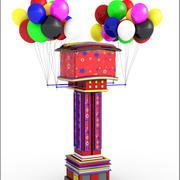 Balonowa wieża z kreskówkami 3d model