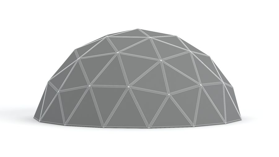 Geodesic small dome royalty-free 3d model - Preview no. 7