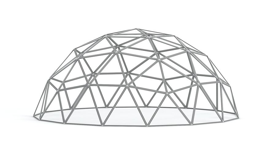 Geodesic small dome royalty-free 3d model - Preview no. 8