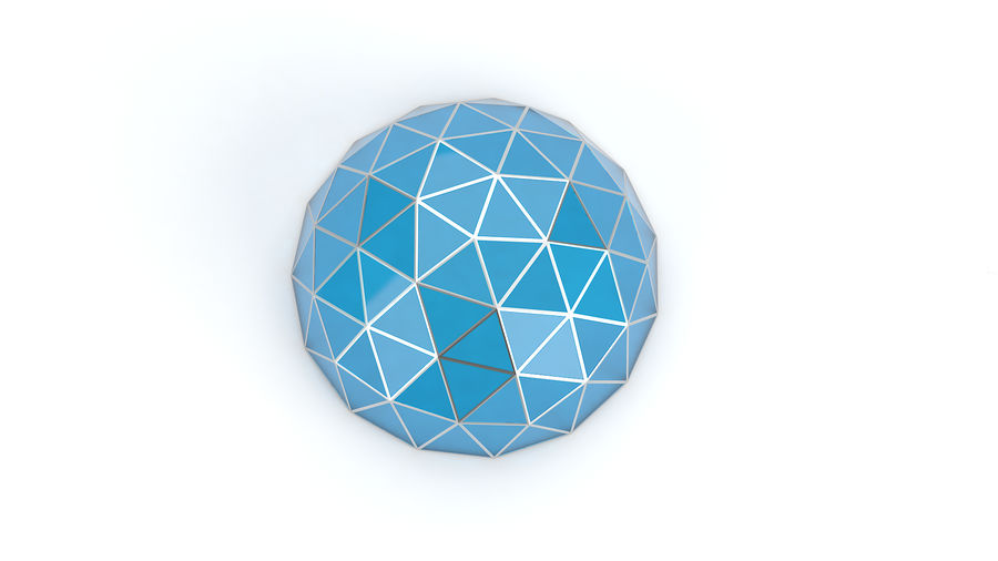 Geodesic small dome royalty-free 3d model - Preview no. 4