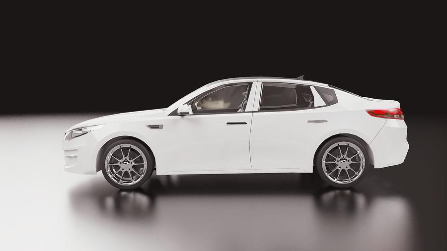 2016 Kia Optima royalty-free modelo 3d - Preview no. 3