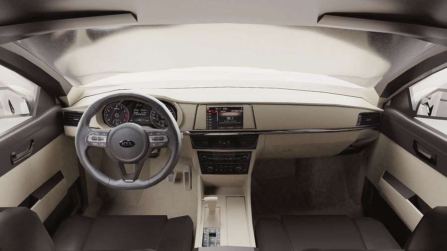 2016 Kia Optima royalty-free 3d model - Preview no. 7
