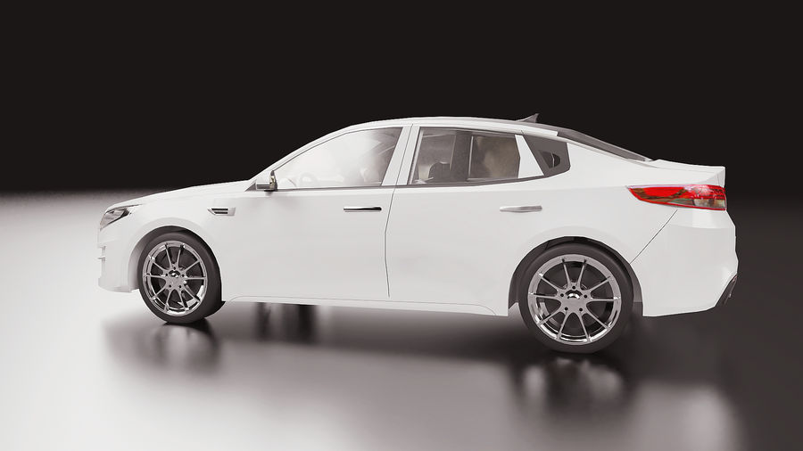 2016 Kia Optima royalty-free modelo 3d - Preview no. 4