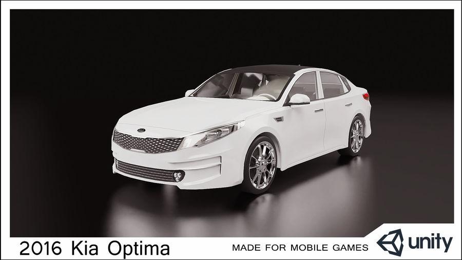 2016 Kia Optima royalty-free modelo 3d - Preview no. 1