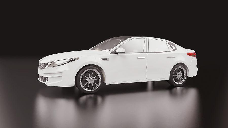 2016 Kia Optima royalty-free 3d model - Preview no. 2