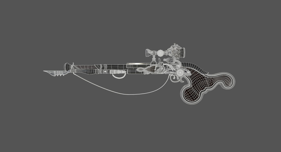 Karabin snajperski royalty-free 3d model - Preview no. 4