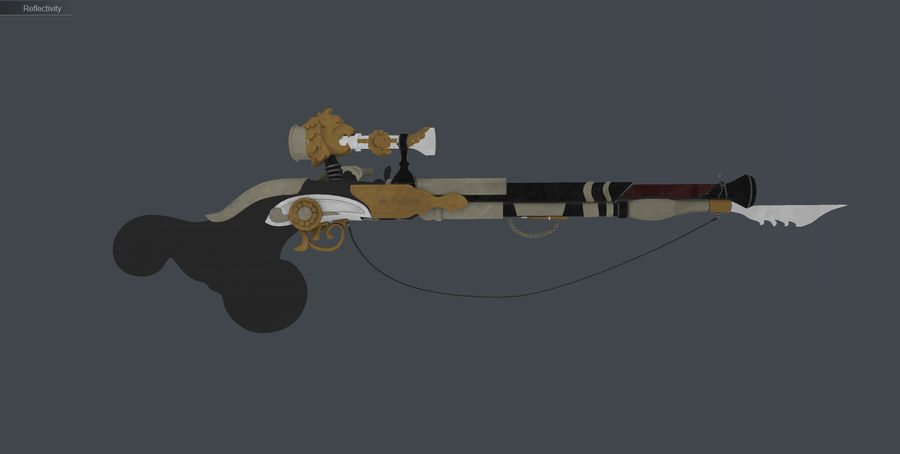 Karabin snajperski royalty-free 3d model - Preview no. 19