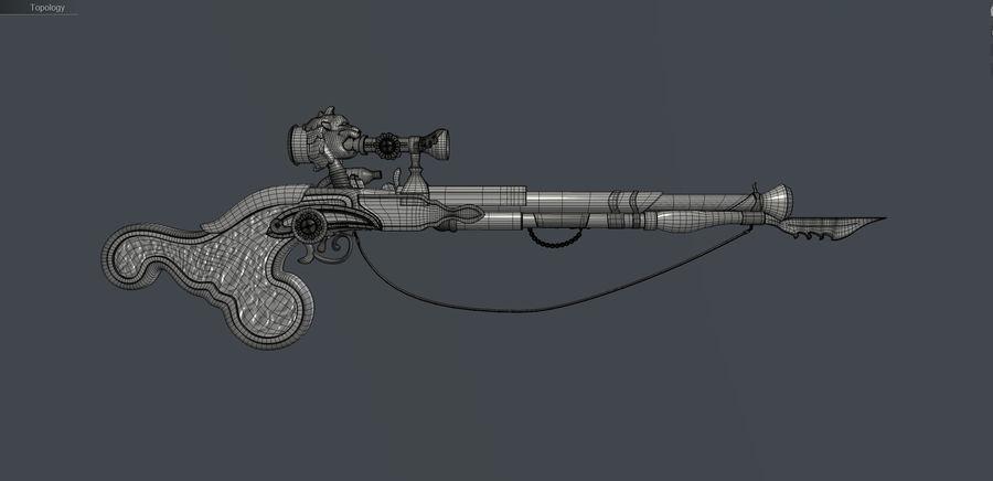 Karabin snajperski royalty-free 3d model - Preview no. 17