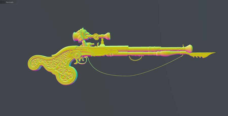 Karabin snajperski royalty-free 3d model - Preview no. 21