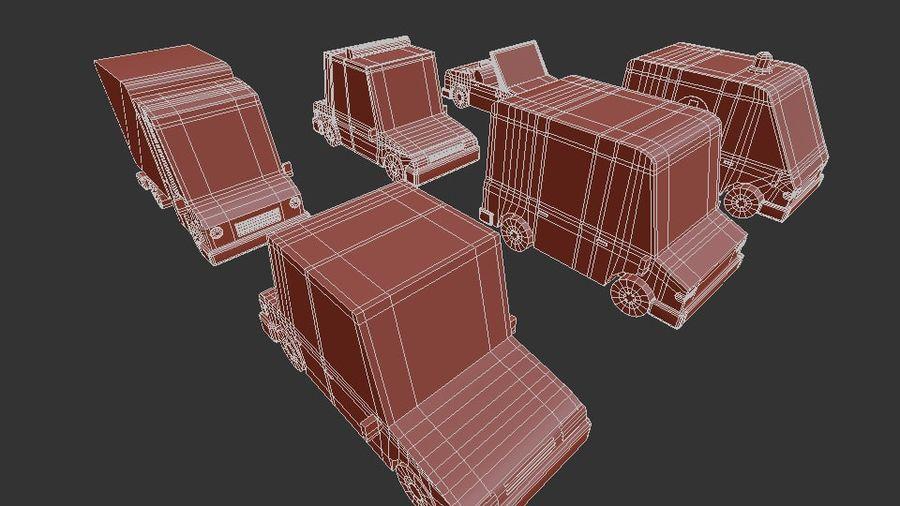 低聚汽车包3 royalty-free 3d model - Preview no. 14