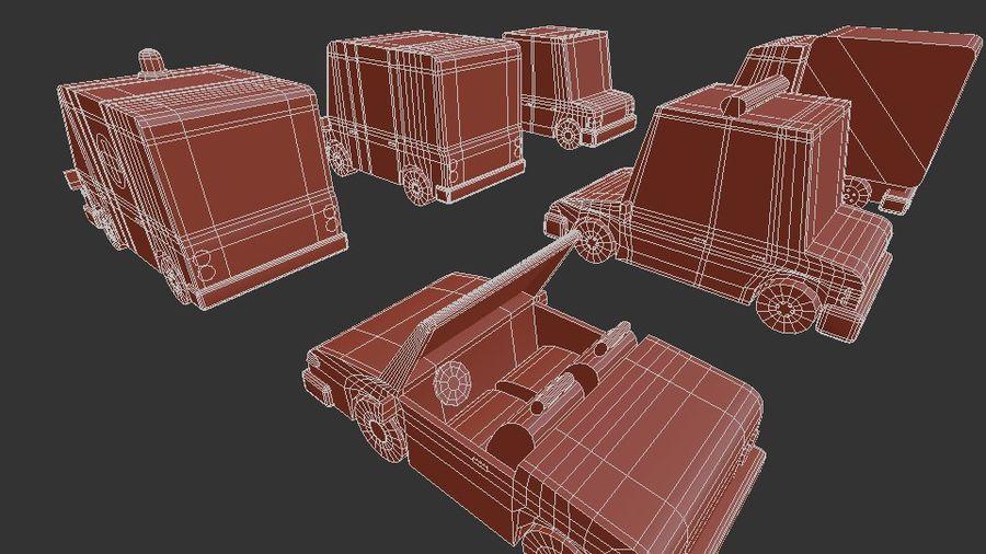 低聚汽车包3 royalty-free 3d model - Preview no. 15