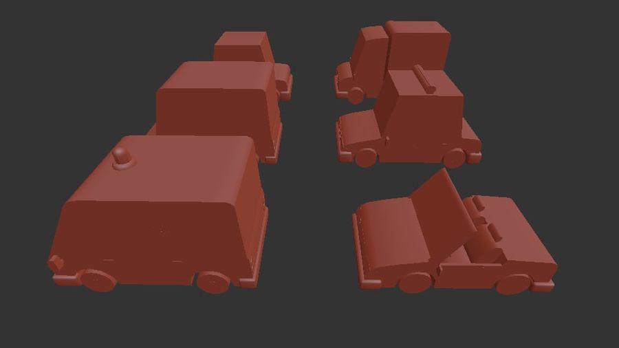 低聚汽车包3 royalty-free 3d model - Preview no. 12
