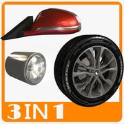 Pièces de voiture 3d model
