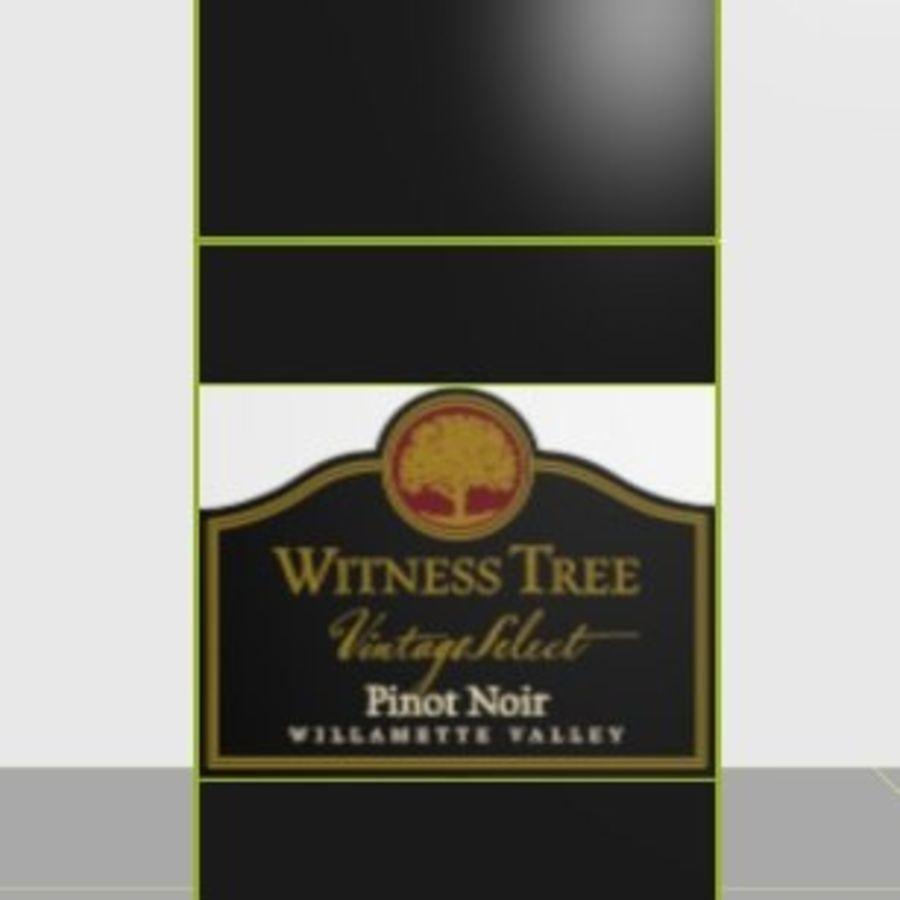 Şarap şişesi royalty-free 3d model - Preview no. 3