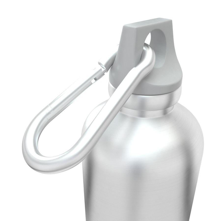Reusable aluminium water gray bottle royalty-free 3d model - Preview no. 6