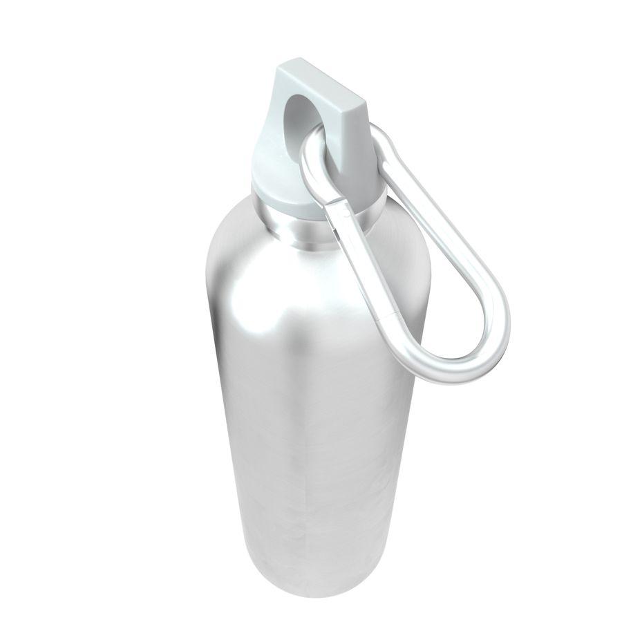 Reusable aluminium water gray bottle royalty-free 3d model - Preview no. 9