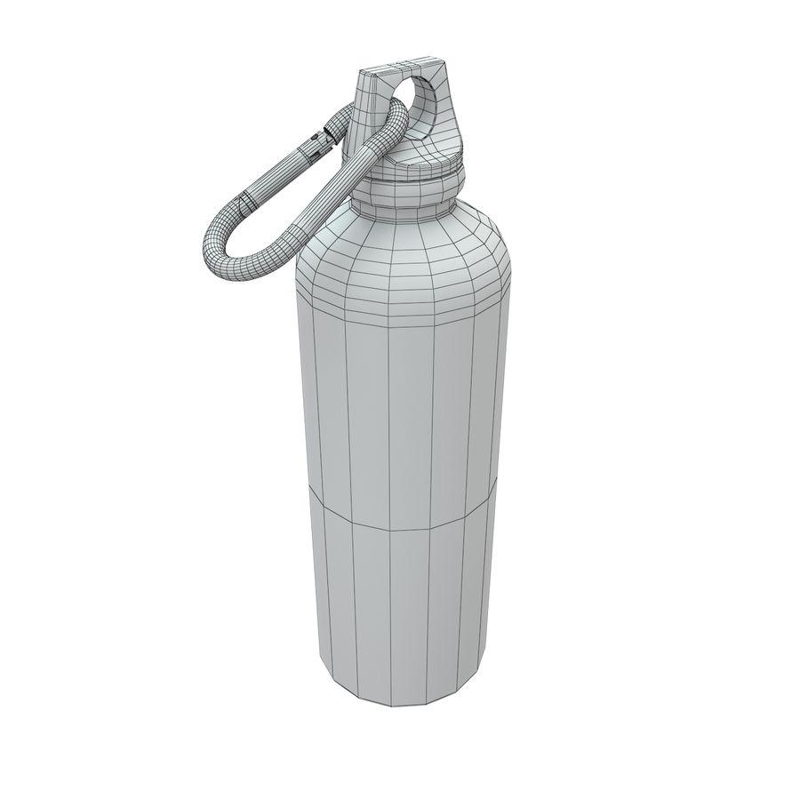 Reusable aluminium water gray bottle royalty-free 3d model - Preview no. 4