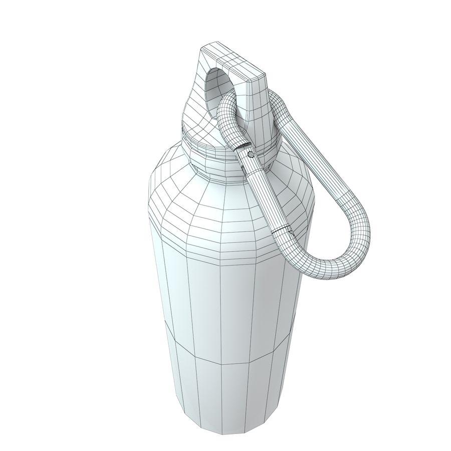 Reusable aluminium water gray bottle royalty-free 3d model - Preview no. 11