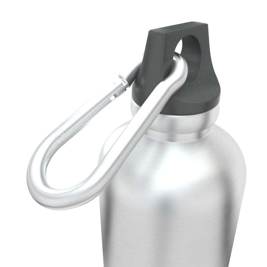Reusable aluminium water black bottle royalty-free 3d model - Preview no. 6