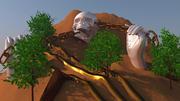crâne de montagne 3d model